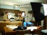 Yet another shot of the prep for the infamous Kitchen Scene.